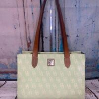 AUTHENTIC Dooney & Bourke East West Shopper Handbag Leather Mint Green