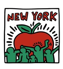 "HARING, KEITH - UNTITLED, 1989 (BIG APPLE) - ART PRINT POSTER 32"" X 32"" (2696-6)"