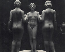 "LOOK Vintage 1930s BLUMENFELD Photogravure ""Maillol's Three Graces"" FRAMED COA"