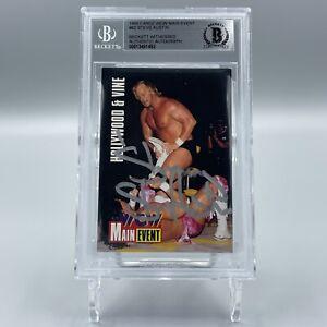 Stunning Steve Austin Signed 1995 Cardz WCW Main #62 Rookie Card RC Beckett BAS