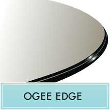 """20"""" Round Clear Tempered Glass Top Replacement 1/2"""" Thick Ogee edge by Spancraft"""