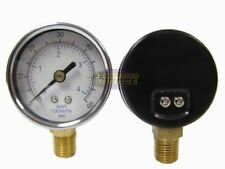 Quality 14 Npt Air Pressure Gauge 0 60 Psi Side Bottom Mnt Mount 2 Face