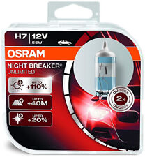 OSRAM 64210NBU-HCB Night Breaker Unlimited H7 Halogen Headlamp 12V Car (2 Pack)