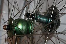 28-Zoll Laufradsatz SON Schmidts Nabendynamo Tune Mag grün Shimano XT 10-fach