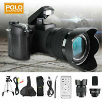 "Polo HD 33MP 3"" LCD 24X ZOOM LED Digital DSLR Camera Camcorder + Lens +Led"