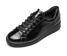 Ecco Black Patent Leather Womens shoes 38 (Soft 1)