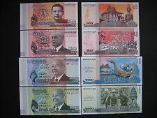 CAMBODIA  100 + 500 + 1000 + 2000 Riels  2013/14  (3x Pnew + P63a)  UNC