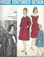 1950s Vintage VOGUE Sewing Pattern B34 COAT & DRESS (1265R) By Ronald Paterson