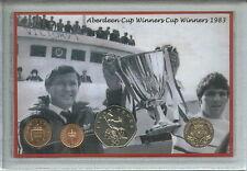 Aberdeen FC Alex Ferguson Taza final ganadores Retro Vintage Regalo del ventilador de Moneda Set 1983