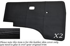 BLACK STITCH 2X DOOR CARDS LEATHER SKIN COVERS FITS VW T25 T3 WESTFALIA CAMPER