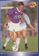 N°197 MICHEL PAVON SC.MONTPELLIER CARTE PANINI FOOTBALL 95 FRANCE CARDS 1995