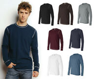 Canvas Long Sleeve Contrast Stitch Lombard Thermal T-Shirt, Mens S-2XL (3500)