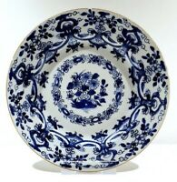Plate Flowers Porcelain Kangxi (1662-1722) China Qing Dynasty