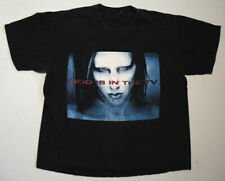 Vintage 90s Marilyn Manson God Is In The Tv T Shirt Lg Rock Metal Concert