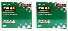 X 2 Tesco DVD + R a doppio strato Disco Custodia Jewel-CONFEZIONE DA 5