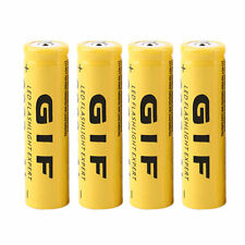 4pcs 3.7V 18650 9800mAh Li-ion Rechargeable Battery For Flashlight Torch ZJUS
