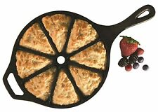 Cast Iron Cornbread Wedge Pan Pre-Seasoned Skillet Home Kitchen Cookware Oven