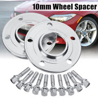 10mm Hubcentric Wheel Spacers Bolts Kit  5x120 72.6 CB For BMW E36 E46 E60