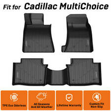Floor Mats Custom For Cadillac Ct6/Xts/Xt5 Front&Rear All Weather Protect Black