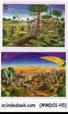 CENTRAL AFRICA - 2001 BELGICA / DINOSAURS -SET OF 2 MINIATURE SHEET MNH