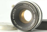 [Near Mint] Canon 35mm F1.8 Lens L39 Leica Screw Mount LTM Caps From Japan #197