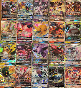 100 Pokemon Cards Lot - GUARANTEED 1x Ultra Rare GX or V Card +11 Rare/Holos! 🦘