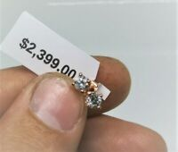$2,399.00 Estimated .50CTW REAL GENUINE Diamond Stud Earrings 14k SOLID Gold WOW