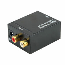 Digital Optico Toslink SPDIF Coaxial a Analogico RCA Adaptador conversor de auP8