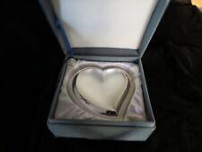 Lenox Kirk Stieff Collection Silverplate Heart Shaped Velvet Jewelry Box - NIB