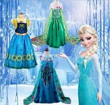 Kinder Frozen Anna Elsa Prinzessin Kleid Cosplay Mädchen Kostüm Partykleid Neue+