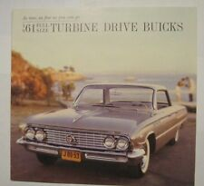 1961 Buick Full Size Turbine Drive Buicks Sales Brochure