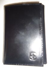 Swiss Army Captain Genuine Leather Trifold Wallet,Black Style3980
