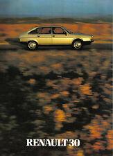 Renault 30 TX 1980-81 Original UK Market Sales Brochure No. 20.111.07