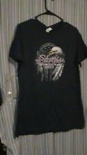 Navy Sturgis 2013 Biker Shirt with Eagle and Feathers  - Size Large