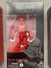 Hasbro Star Wars The Black Series Sith Jet Trooper Toy 6-inch Scale Star...