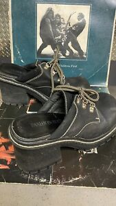 Vintage Fashion Bug Chunky Heel Shoes Clogs 80s 90s 8.5