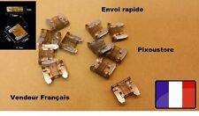 Lot de 5 micro fuses 7,5 Amp 7.5A auto moto automobile car 10x11mm 1-22