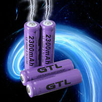 4pcs 3.7V 2300mAh 14500 AA Li-ion Rechargeable Battery For LED Flashlight#S