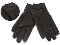 Mens Black Soft Sheep Nappa  Real Leather Gloves From Lorenz L New