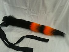 cat tail black & orange animé Cosplay Halloween fancy dress costume