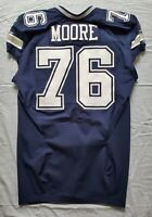 #76 Zach Moore of Dallas Cowboys NFL Locker Room Game Issued Jersey