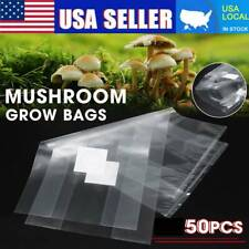 50PCS Mushroom Grow Bag/Sealable Spawn/Myco Bags,Large Size 10