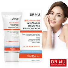 Dr.Wu UV Hydrating Lotion With Hyaluronic Acid SPF35 30ml Hydrates The Skin NEW