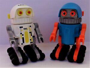 Playmobil Space   2 x Robots  1 Blue & Orange & 1 White  Vintage  Mint Condition