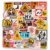 50pcs Cool Skateboard Stickers Bulk Pack Snowboard Vinyl Decor Decals Black