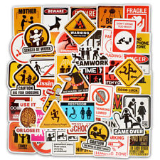 50pcs Cool Skateboard Stickers BULK Pack Snowboard Vinyl Decor Decals Black