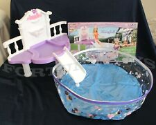ROSE Palace DOLL HOUSE FURNITURE Waterfall Fantasy Pool w/Slide SET (2678)