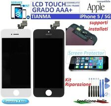 DISPLAY LCD TOUCH SCREEN FRAME PER APPLE iPHONE 5G TIANMA ORIGINALE NERO/BIANCO