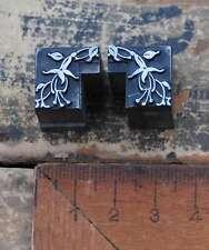 Vignetten Jugendstil Bleisatz Ornamente Fuchsie Rahmen Ecken letterpress AN11