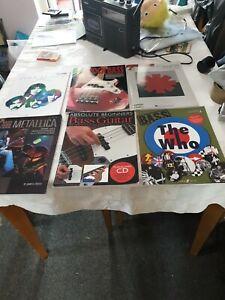 Six Bass Guitar Books Pink Floyd/ The Who /metallica